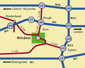Map pf Windsor