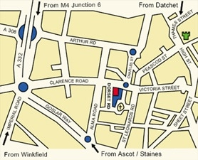 Map of Dorset Road location